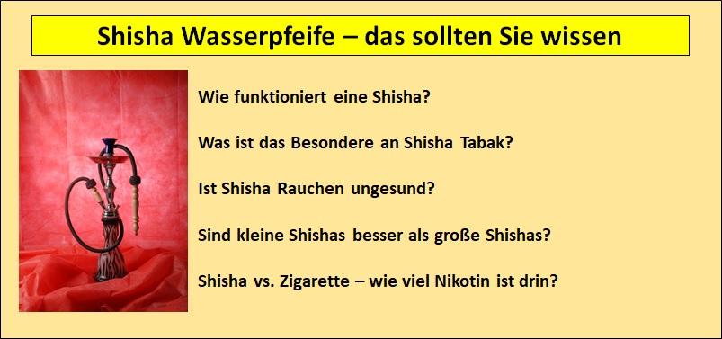 Shisha Wasserpfeife - das sollten sie dazu wissen